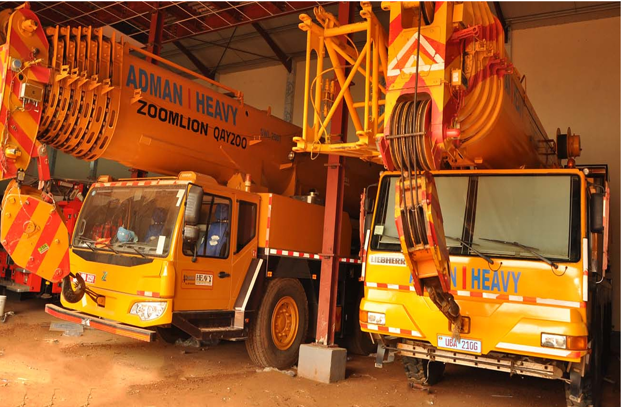 Adman Cranes 200TN and 100 TN